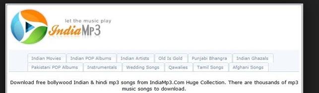 India MP3 Music Website