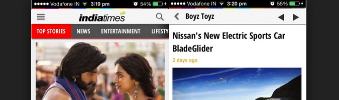 India Times App iPhone