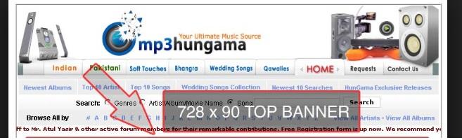 MP3 Hungama Music Website
