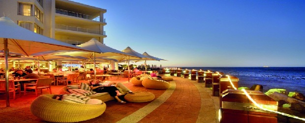 waterfront terrace and bar